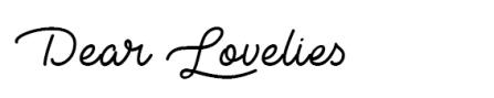 DEAR LOVELIES copy
